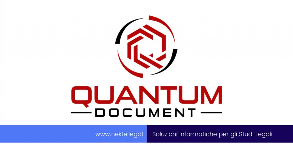 Il nuovo software documentale Quantum Document